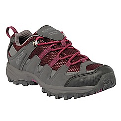 Regatta - Grey/burgundy kids garsdale waterproof shoe