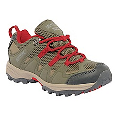 Regatta - Brown/red kids garsdale waterproof shoe