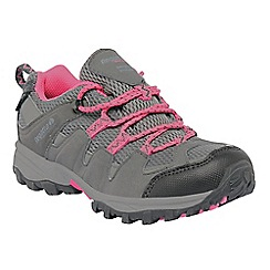 Regatta - Grey/pink kids garsdale waterproof shoe