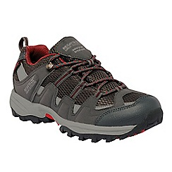 Regatta - Dark grey/red kids garsdale waterproof shoe