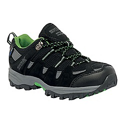 Regatta - Black/green kids garsdale waterproof shoe