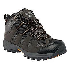 Regatta - Dark grey/gold kids garsdale waterproof boot