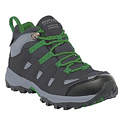 Regatta - Grey/bright green kids garsdale waterproof boot