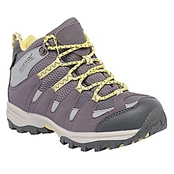 Regatta - Grey/lime kids garsdale waterproof boot