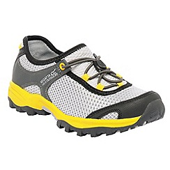 Regatta - Grey/ yellow kids platipus shoe