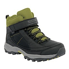 Regatta - Black/green boys trailspace boot