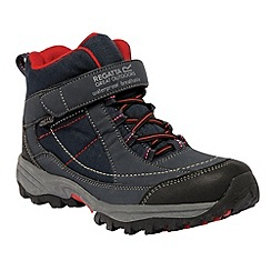 Regatta - Dark grey/ red boys trailspace boot