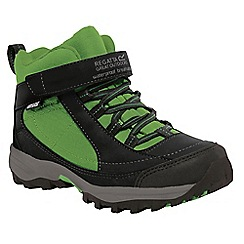 Regatta - Boys Black/ green boys trailspace waterproof boot