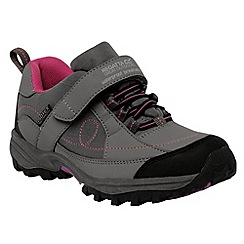 Regatta - Dark grey/ violet girls trailspace shoe