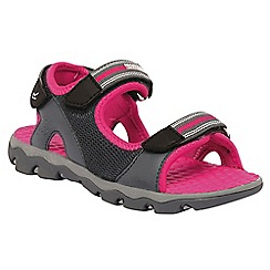 Regatta - Kids Grey/pink terrarock adventure sandal
