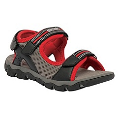 Regatta - Black/red kids terrarock sandal