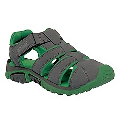 Regatta - Dark grey/ green boys boardwalk sandal