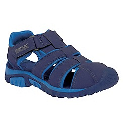 Regatta - Navy/ blue boys boardwalk sandal