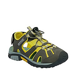 Regatta - Boys' yellow deckside junior sandals