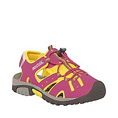 Regatta - Kids Pink/yellow deckside sporty mesh sandal