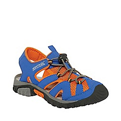 Regatta - Blue/ orange kids deckside sandal