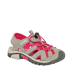 Regatta - Light grey/ pink kids deckside sandal
