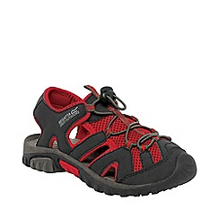 Regatta - Black/red kids deckside sandal