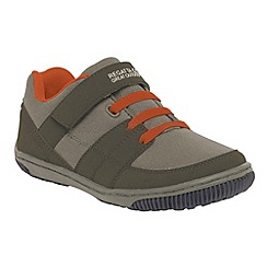 Regatta - Green/ orange kids baseline trail shoe
