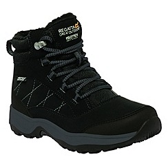 Regatta - Kids Black Mountpeak mid walking boot