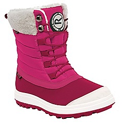 Regatta - Girls Pink/ white elvina kids winter boot