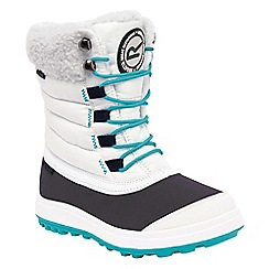 Regatta - Girls White/ grey elvina kids winter boot