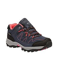 Regatta - Kids Blue 'Holcombe' low walking shoe