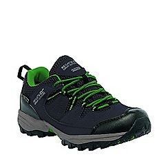Regatta - Boys Grey/ green holcombe waterproof shoe