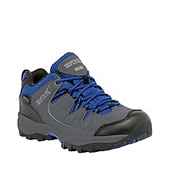 Regatta - Boys Grey/ blue holcombe waterproof shoe