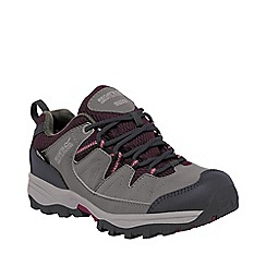 Regatta - Girls Steel grey holcombe waterproof shoe