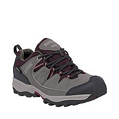 Regatta - Girls Steel grey holcombe waterproof shoe