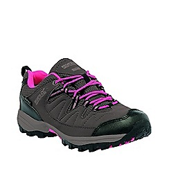 Regatta - Girls Grey/ pink holcombe waterproof shoe