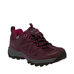 Regatta - Kids Purple Gatlin low walking shoe