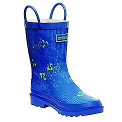 Regatta - Kids blue minnow wellies