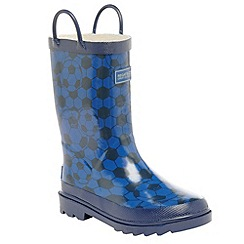 Regatta - Blue/ navy kids minnow welly