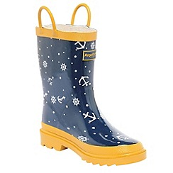 Regatta - Navy/ gold kids minnow welly