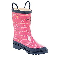 Regatta - Pink/ navy kids minnow welly