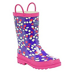 Regatta - Purple/ pink kids minnow welly