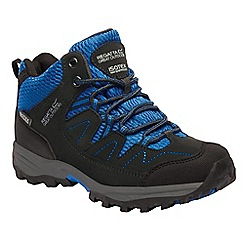 Regatta - Kids blue Holcombe junior walking boots