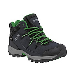 Regatta - Boys Grey/ green kids holcombe waterproof boot