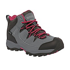 Regatta - Girls Grey/ red kids holcombe waterproof boot