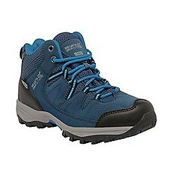 Regatta - Kids Blue Kids holcombe waterproof boot