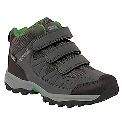 Regatta - Kids Grey Helmshore mid waterproof shoe