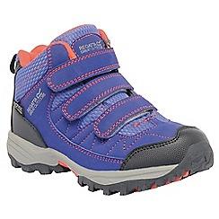 Regatta - Girls Blue/orange helmshore mid waterproof shoe