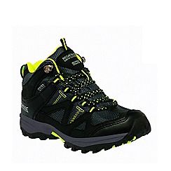 Regatta - Kids Black Gatlin mid walking boot