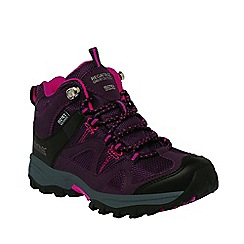 Regatta - Kids Purple Gatlin mid walking boot