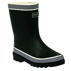 Regatta - Kids Black Foxfire junior wellington boots