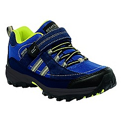 Regatta - Kids Blue/yellow trailspace walking shoe