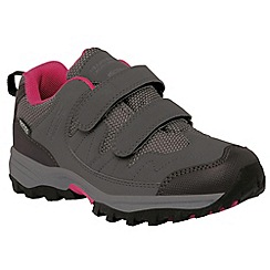 Regatta - Kids Grey Helmshore low walking shoe