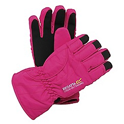 Regatta - Girls Pink kids arlie waterproof glove
